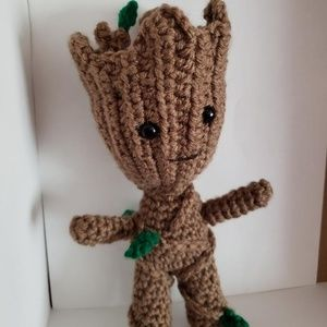 Hand Made Groot Inspired Amigurumi